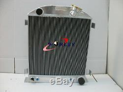 Radiateur 3 Noyaux En Aluminium Pour Moteur Hotrod Ford Hi-boy Chevy 1932 32
