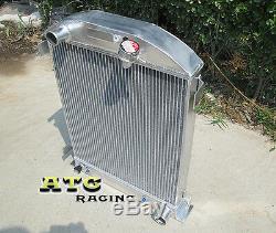 Radiateur À 3 Noyaux En Aluminium Pour Obus De Gril Ford Hi-boy 1932 Chevy Engine 32