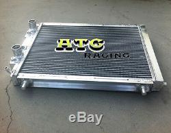 Radiateur Aluminium À 2 Rangées Pour Lancia Delta Hf Integrale 8v / 16v / Evo 2.0 Turbo 87-95