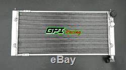 Radiateur Aluminium À 2 Rangées Pour Volkswagen Golf 2 Corrado Vr6 Turbo Mt / 16v G60