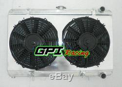 Radiateur, Carénage Et Ventilateurs En Aluminium Pour Nissan 200sx S13 Ca18det 1.8 Turbo 88-94 Mt