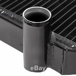 Radiateur De Course D'alliage D'édition Noire De 40mm Pour Mitsubishi Evo 4 5 6 IV V VI Fq M.