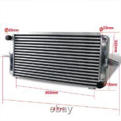 Radiateur De Course En Aluminium De 50mm Pour Ford Sierra Escort Rs 500 Cosworth + Linceul De Ventilateur