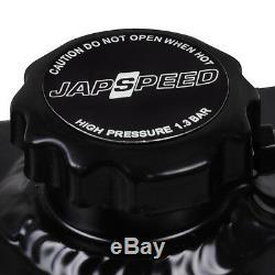 Radiateur De Dérive De Race Noire D'alliage De Japspeed Pour Le Ciel De Nissan R33 R34 Gtst Gtt Gtt