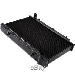 Radiateur De Dérive Noir En Aluminium À Débit Élevé Japspeed Pour Nissan 200sx S14 S14a S15