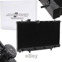 Radiateur De Refroidissement En Alliage Noir Japspeed Rad Pour Subaru Impreza Gd Wrx Sti 03-06