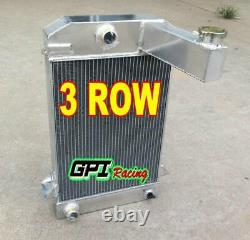 Radiateur En Alliage D'aluminium 3 Rangées Pour Triumph Tr2/tr3/tr3a/tr3b Mt 62mm Core