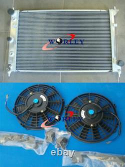 Radiateur En Alliage D'aluminium 3row Pour Ford Ba Bf Falcon V8 Xr8 Xr6 Turbo At/mt + Ventilateurs