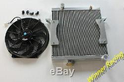 Radiateur En Alliage D'aluminium Et 14''12v Fan Triumph Tr6 1969-1974 / Tr250 1967-1968
