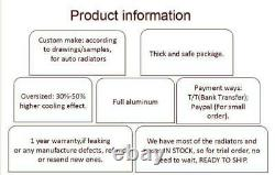 Radiateur En Alliage D'aluminium Pour Siège Fiat 128 127 1100 1300 1969-1985 1970 40mm