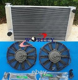 Radiateur En Alliage D'aluminium + Shroud + Fins Pour Ford Falcon V8 6cyl XC XD Xe Xf