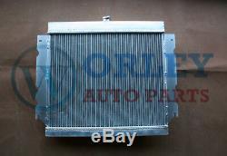 Radiateur En Alliage D'aluminium + Un Ventilateur Pour Chrysler Valiant Vg Vj Hemi 6 Cyl