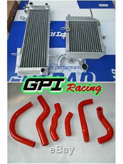 Radiateur En Alliage + Tuyau Pour Abaisser Honda Rvf400 Nc35 Ou Nc30 Vfr400 Avec Support De Ventilateur