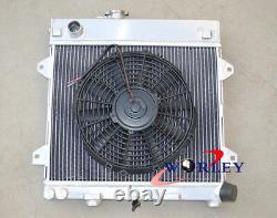 Radiateur En Aluminium 2 Rangées Pour Bmw E30 M10 316i 318i 1982-1991 Manuel Mt + Fan