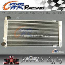 Radiateur En Aluminium + 2 X Ventilateurs Pour Volkswagen Vw Golf 2 Et Corrado Vr6 Manuel Turbo