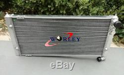 Radiateur En Aluminium + 2 X Ventilateurs Pour Volkswagen Vw Golf 2 Et Corrado Vr6 Turbo Manual