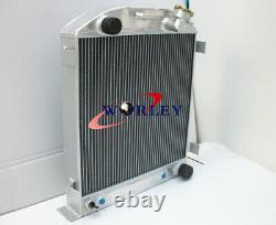 Radiateur En Aluminium 3 Rangées Pour Ford Hi-boy Chevy Moteur Hotrod 1932 32