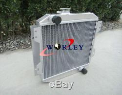 Radiateur En Aluminium 42mm Pour Ford Capri / Escort Kent Essex I4 V4 Mk1 / 2/3 1.3 / 1.6 / 2l