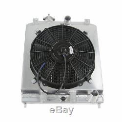 Radiateur En Aluminium À 3 Rangées + Ventilateur À Capuchon Pour 1992-2000 Honda CIVIC Eg Ek B16 B18