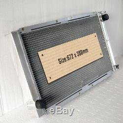 Radiateur En Aluminium Adapter Subaru Impreza / Liberty Classic Gc8 Wrx Sti Ej20 Noir 42mm