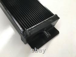 Radiateur En Aluminium Alliage Universel 625 X 200 X 60mm Entrée / Sortie 19 /19mm Noir