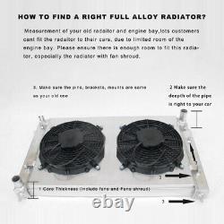Radiateur En Aluminium Convient Daihatsu Rocky Fourtrak F7 F8 Diesel Turbo 2,8d Mt 85-98
