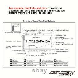Radiateur En Aluminium De 42 MM S'adapte À Vauxhall Astra G Opel Mk4 Z20let Zafira Gsi Sri