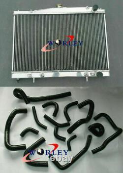 Radiateur En Aluminium En Alliage Et Tuyau De Silicone Pour R33 R34 Gt Gtt Gtr 1999-2000 A /mt
