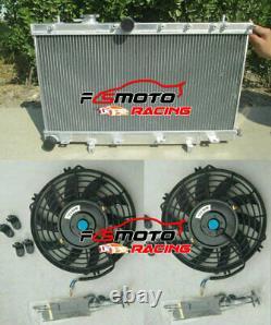 Radiateur En Aluminium + Fn Pour Subaru Impreza Wrx Sti Gdb Gda Gd Turbo 2003-2007