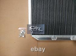 Radiateur En Aluminium + Ventilateur Ford Falcon Xr Xt Xw Xy Windsor Moteur 289 302 351 Auto