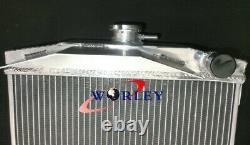 Radiateur En Aluminium + Ventilateur Pour Austin Healey 3000 1959-1967 Manuel Mt