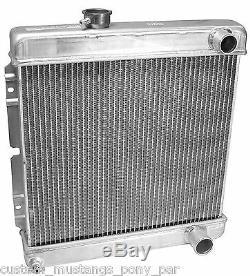 Radiateur Mustang Alliage 55mm 2 Core 1965 1966 64 65 66 260 289 302 347 Aluminium