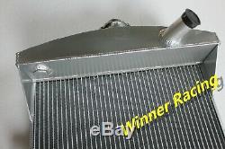 Radiateur Pour Jaguar C-type Xk120-c Patrimoine Châssis L6 3.4l 1951-1953 Aluminium