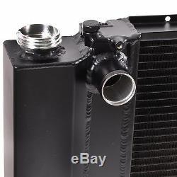Radiateur Rad Rad Alliage Noir 45mm Pour Bmw Série 3 E30 E36 E34 318i 320i 325i