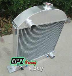Radiateur Sur Mesure En Aluminium Pour Modèle Ford A Coupé Avec Moteur Chevy 1928-1931