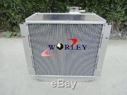Radiateur & Ventilateur En Aluminium Pour Ford Capri Mk1 2 3 Kent 1.3l 1.6l / 2.0 Essex / Escort 1.6