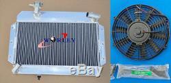 Radiateur + Ventilateur En Aluminium Pour Mg Mga 1500 / 1600/1622 / De-57 60 1955-1962 Luxe 61 Mt