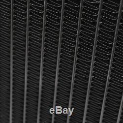 Rayon De Radiateur De Course D'alliage Japspeed Black Edition Pour Honda CIVIC Ek Ej Eh 88-00
