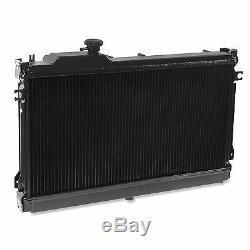 Rayonnement Rad Radiateur Aluminium Twin Core 50mm Noir Pour La Mazda Mx5 Mx-5 1.6 1.8 90-97