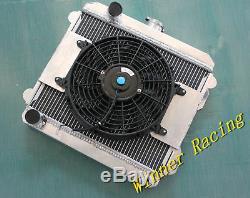 Set En Alliage De Radiateur Et Ventilateur Pour Toyota Corolla Levin / Sr5 Te22 / Te27 / Ke25 / Ke30 1966-1981