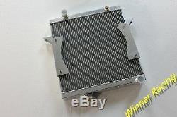 Triumph Tr6 1969-1974 / Tr250 1967-1968 Radiateur En Alliage D'aluminium 56mm & Ventilateur 14''12v